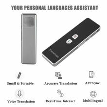 Portable Translator T8 Smart 42 Language Text Speech Interactive 2.4G Translator Two Way Real Time Voice(China)