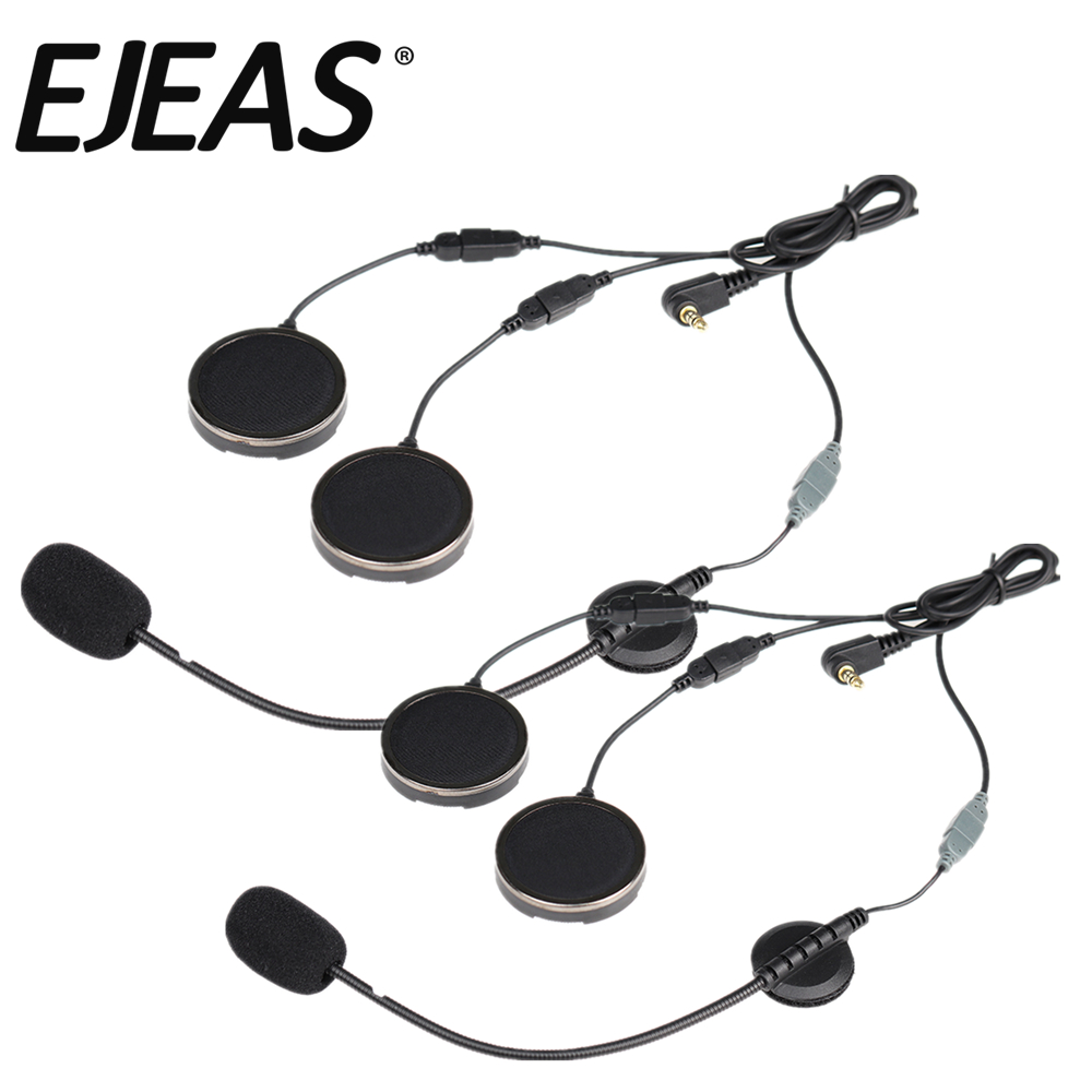 A Pair Offcial Helmet Headset With Foam Speaker Covers Microphone Sponges For EJEAS Quick 20 VNETPHONE V6