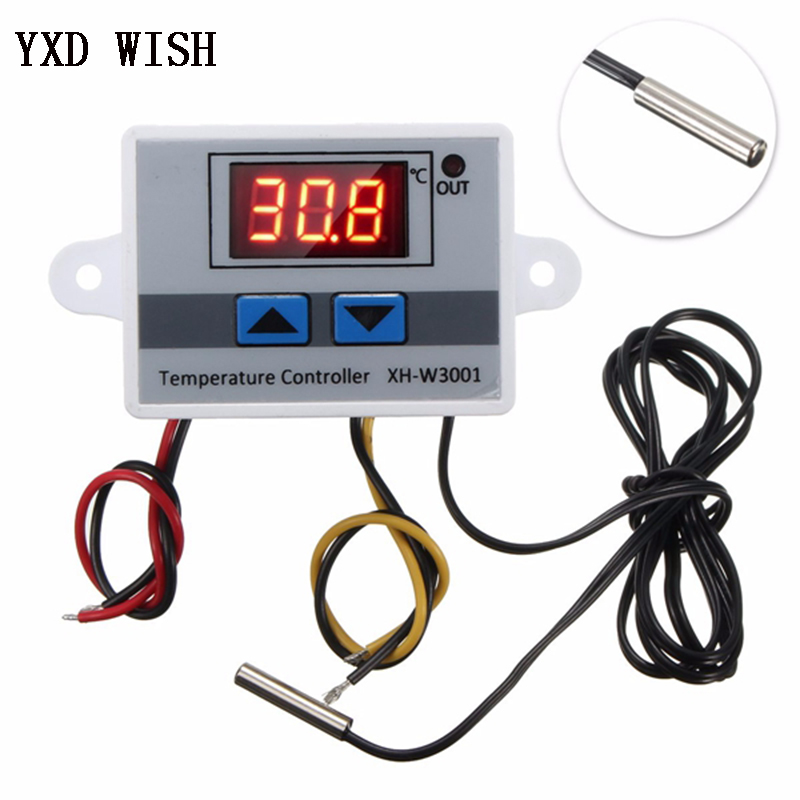 <font><b>XH</b></font>-<font><b>W3001</b></font> Digital Temperature Controller Thermostat <font><b>W3001</b></font> 110V 220V 12V 24V Thermoregulator Aquarium Incubator Temp Regulator image