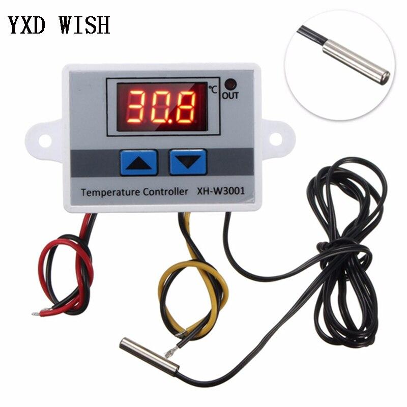XH-W3001 controlador de temperatura digital termostato w3001, 110 v 220 v 12 v 24 v termoregulador incubadora de aquário regulador de temperatura