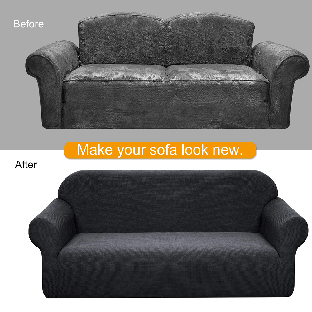 MEIJUNER Waterproof Sofa Cover in Solid Color with High Stretchable Slipcover for Dining Room 4