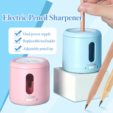 Tenwin Electric Pencil Sharpener for Pencils Φ6-8mm Battery/Plug-in Power Adjustable Thickness Automatic Pencil Sharpener 8035