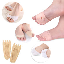 Foot Care Tools Forefoot Pads Five-hole Honeycomb Toe Separator Soft Gel Pain Relief Insoles Prevent Feet Callus Blisters Corn
