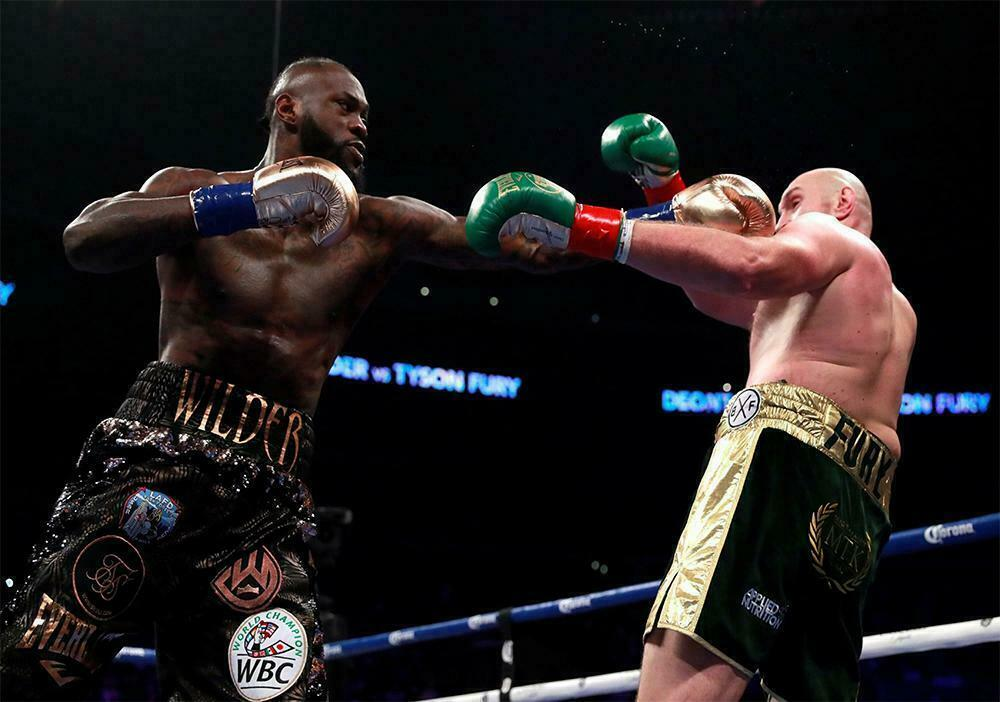 Tyson Fury vs Deontay Wilder Boxing Fight Art Film Print Silk Poster Home Wall Decor 24x36inch image