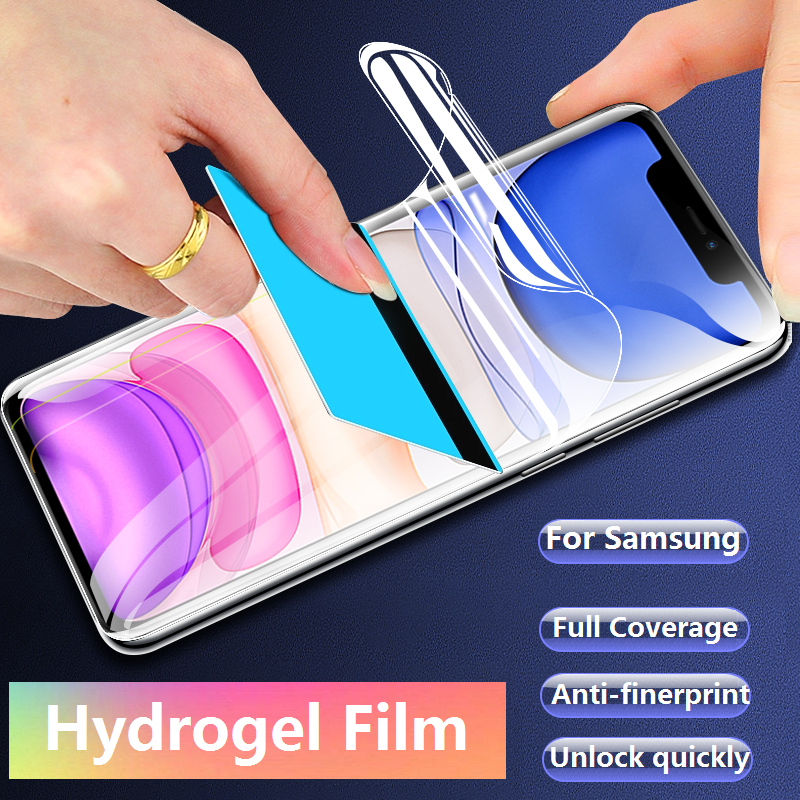 3 Piece Full Coverage Hydrogel Film Screen Protector For Samsung Galaxy A10 A20 A30 A40 A50 A60 A70 A80 A90 Not Glass