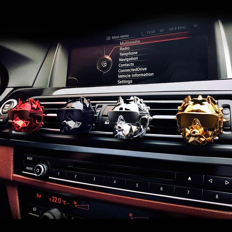 Korea Bulldog Car Diffuser Air Freshener Perfume Clip Fragrance Auto Vents Scent Odor Car Interior Decoration