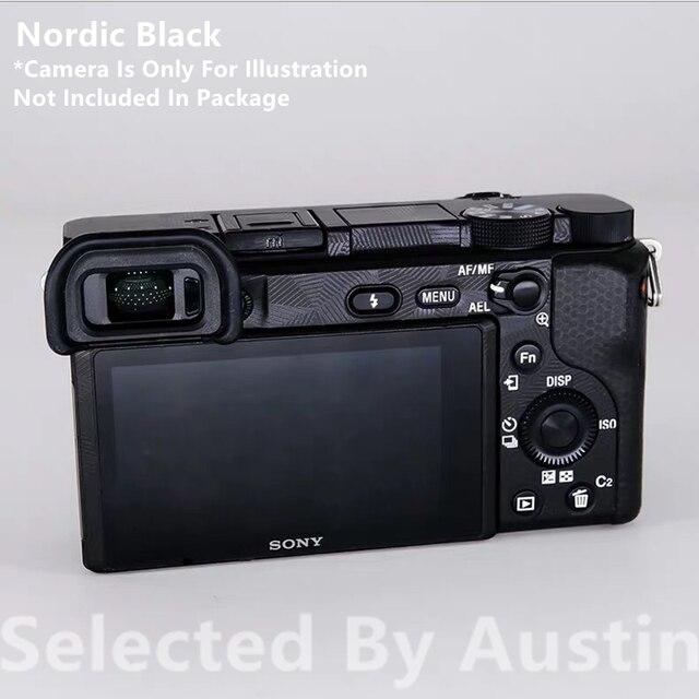 מצלמה עור מדבקות לעטוף סרט מגן עבור Sony A6400 a6300 אלפא נגד שריטות מדבקות מדבקה