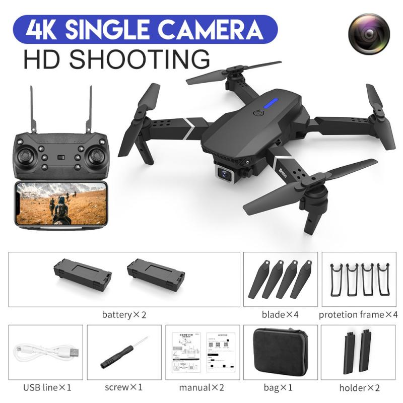 GPS WIFI FPV Quadcopter With 4K/1080P HD Wide Angle Camera Foldable Altitude Hold Durable RC Drone Quadcopter Toys Drop Shipping