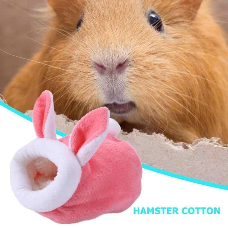 冬暖かいハムスター巣ハリネズミパオベッド犬小屋マウス鶏綿家小動物ベッド洞窟ペット用品マウスラット巣