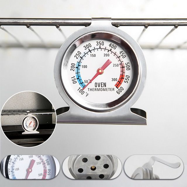 Stainless Steel Oven Thermometer 50-300°C/100-600°F Kitchen Food Meat Dial Thermometer Grill Temperature Gauge For BBQ Baking 3