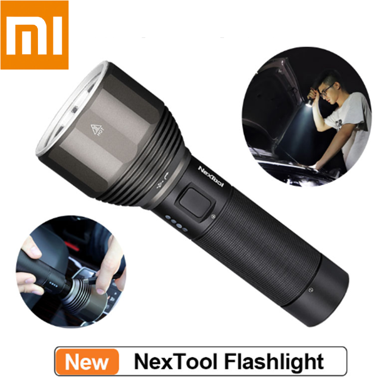 XIAOMI Youpin NexTool Rechargeable Flashlight 2000lm 380m 5 Modes IPX7 Waterproof LED light Type C Seaching Torch for Camping|Flashlights & Torches| |  - title=