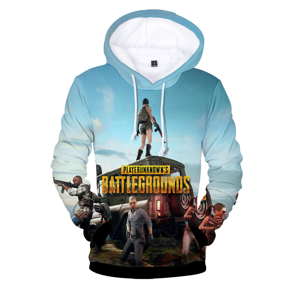 New Clothing PUBG Hoodies Men's Sweatshirt Autumn Winter PUBG Hoodies Men Sweatshirt Children High Quality Hoodie Kids Pullovers