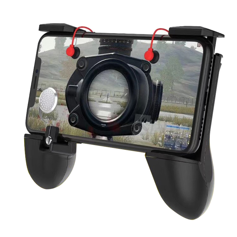 L1R1 Shooter Joystick Fire Trigger Mobile Phone For PUBG Mobile FPS Game Accessories Bracket Aim Key Button Phone Holder Gamepad
