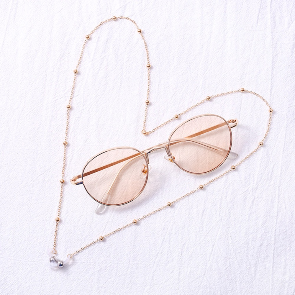 Fashion Womens Gold Silver Eyeglass Chains Sunglasses Reading Beaded Glasses Chain Eyewears Cord Holder neck strap Rope (5)
