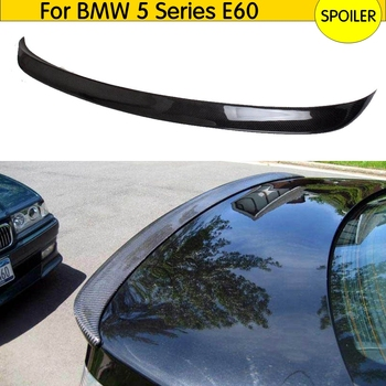 E60 Real Carbon Fiber Spoiler Wing for BMW 5 Series E60 2005 2006 2007 2008 Car Rear Trunk Boot Lip Spoiler Wing Lip image