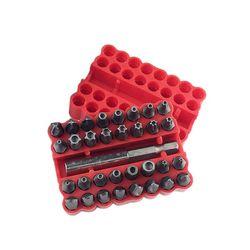 33 sztuk zestaw Bit bezpieczeństwa zestaw z magnetyczny uchwyt przedłużający odporne na manipulacje z łbem sześciokątnym gwiazda śrubokręt bity zestaw w Zestawy narzędzi ręcznych od Narzędzia na