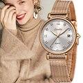 SUNKTA 2019  женские часы из розового золота  кварцевые часы для девушек  Лидирующий бренд  роскошные женские часы  женские часы  Relogio Feminino + коробк...