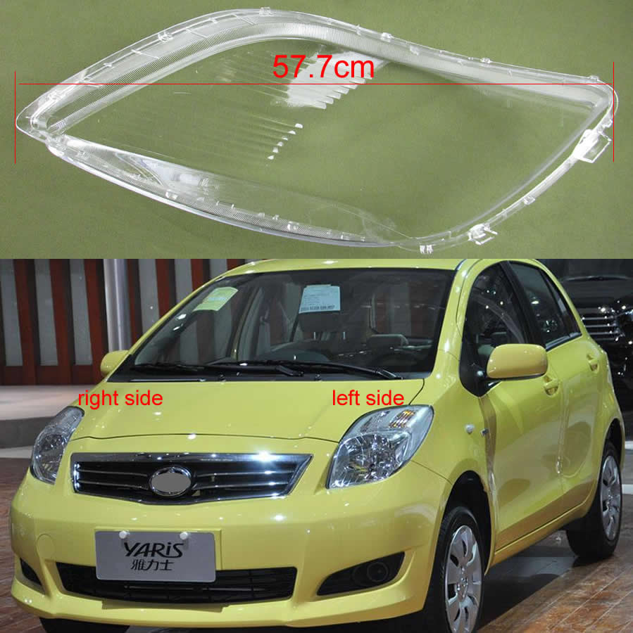 For Toyota Yaris 2008 2009 2010 2011 Headlights Transparent Cover Front Headlamps Transparent Lampshades Lamp Shell Masks