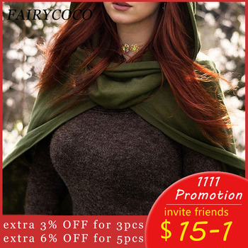 Capes Women Hooded Cloak Gothic Witch Cloaks Sleeveless Button Ponchos Autumn Dark Shawl Short Halloween Cape Coat 2020 1