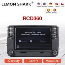 LEMON SHARK راديو السيارة متعدد الوسائط ، Mirrorlink ، MIB ، لـ VW Golf 5 6 Jetta MK5 MK6 Polo Passat B6 B7 CC Tiguan Touran
