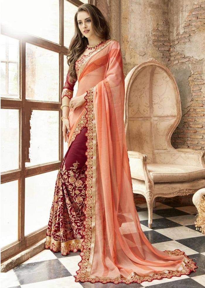 Indian Dress Bollywood Dance Performance Dresses Sri Lanka Saree Blouse India Sari For Women Clothes Sare Bangladesh