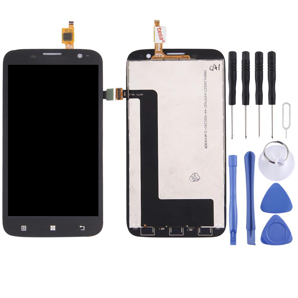 LCD Display Touch Screen Replacement LCD Screen And Digitizer Full Assembly For Lenovo A859 Repair Part Black