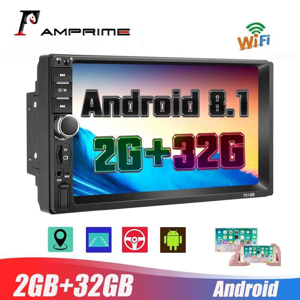 AMPrimeAndroid 2Din 7'' HD 1080P Car Multimedia Player 2+32GB Autoradio Stereo Car Radio With Bluetooth WIFI GPS FM Radio Receiv