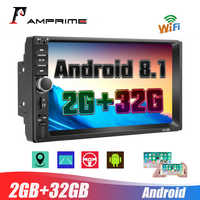 AMPrimeAndroid 2Din 7'' HD 1080P Car Multimedia Player 2+32GB Autoradio stereo Car Radio With Bluetooth WIFI GPS FM Radio Receiv