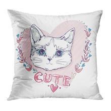 Наволочка для подушки с изображением животных милый мягкий бархатный