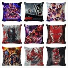 Avengers 4 linen pillowcase cushion cover sofa cushion decorative pillowcase home decoration pillowcase cushion cover swans heart pattern decorative linen pillowcase