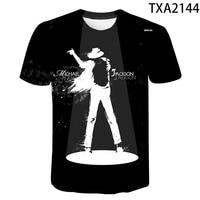 Camiseta con estampado 3D de Michael Jackson para hombre y mujer, camisetas geniales, ropa de calle informal para hombre y niño, novedad de 2020