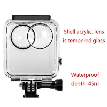 45m Underwater Diving Waterproof Case Soft Frame Housing Protective Cover Shell for GoPro Max Camera Lens Accessories