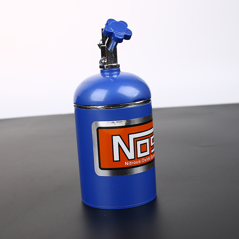 NOS Bottle Tank Car Auto Oxide Nitrous System Car Truck Cigarette Cigar Ashtray Metal Made Interior Accessories