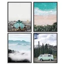 Современный городской и морской пейзаж (набор из 4 шт) картина