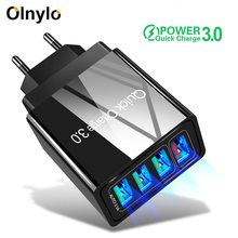 Olnylo Quick Charge 3.0 2.0 USB Charger 4 Port Fast Charging For iPhone 11 QC 4.0 Travel Wall Chargers Samsung S9