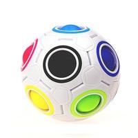 Juguete antiestrés para niños, de arcoíris bola mágica, juguete de cubo de plástico, rompecabezas de fútbol, juguete divertido Montessori