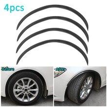 Cejas de rueda de fibra de carbono para rueda de coche, arco de rueda Universal modificado, tira decorativa, 42CM