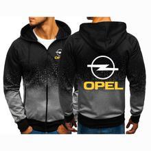 2021 OPEL Print Custom Comfortable Casual Harajuku Gradient Color Hoodies Men's Gradient Sweatshirts Man Jacket Zipper Clothes
