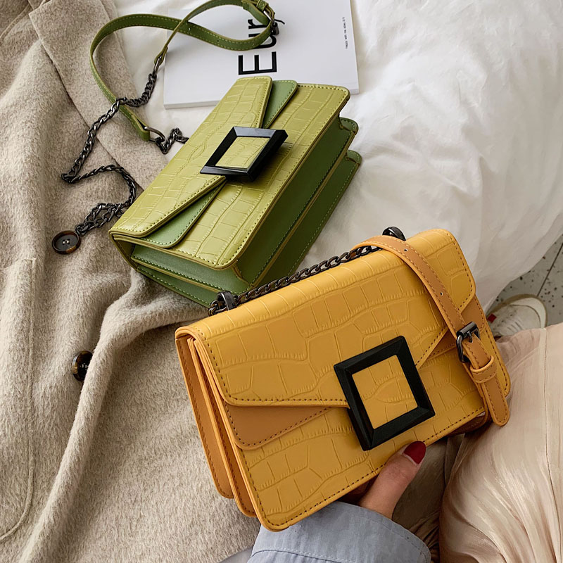 Fashion Candy Chains Women Shoulder Bags Designer Messenger Bag Luxury Crocodile Pu Leather Crossbody Bag Lady Small Purses 2020