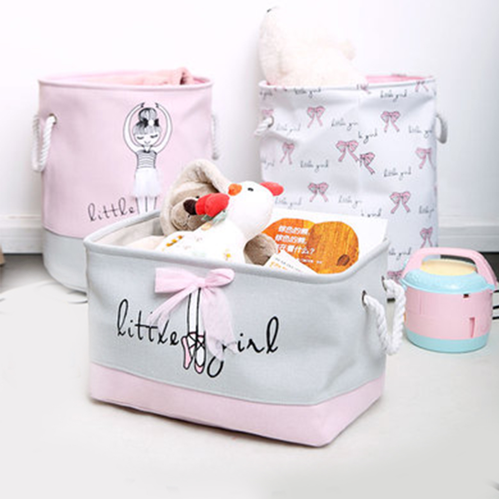 1pc Ballet girl Folding Laundry Toys Storage Basket Barrel Best Children's Lighting & Home Decor Online Store