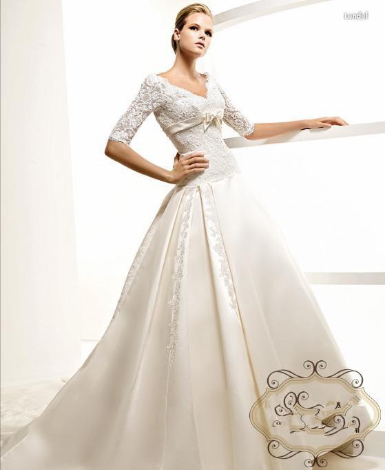 Vestidos 2018 A-line Cap Sleeve Brides Bridal Gown Hot Long Appliques Lace Bow V-neck Half Sleeve Mother Of The Bride Dresses