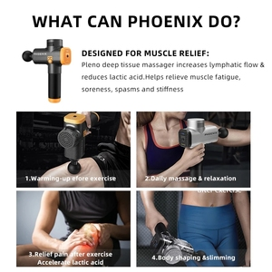 Image 3 - פניקס מיני עיסוי אקדח אלקטרוני גוף עיסוי הרפיה אקדח גבוהה רטט שרירים לעיסוי עמוק רקמות טיפול פנים אקדח
