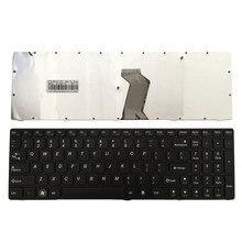 Новая клавиатура для LENOVO G580 Z580A G585 Z585 G590 черная клавиатура для ноутбука США