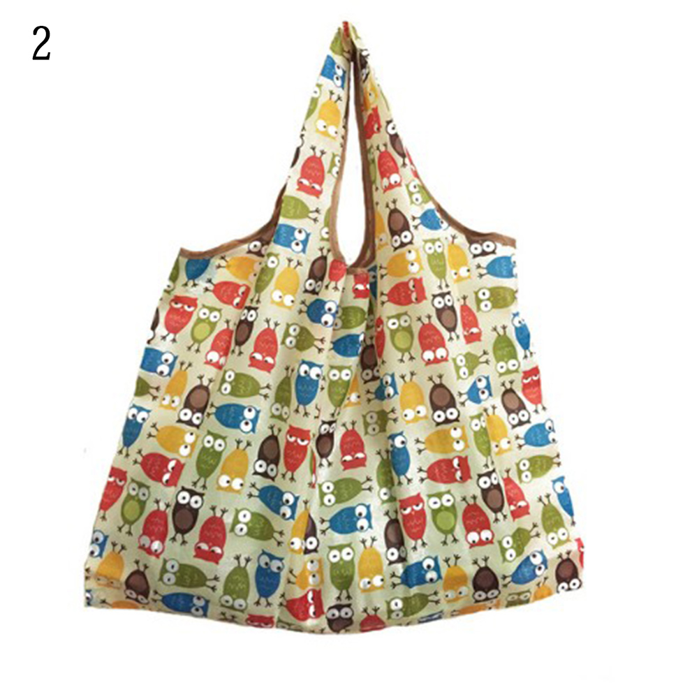 Reusable Bag Lady Foldable Recycle Shopping Bag Cartoon Print Fruit Vegetable Tote Bag Grocery Bag Casual Eco Bags High Quality