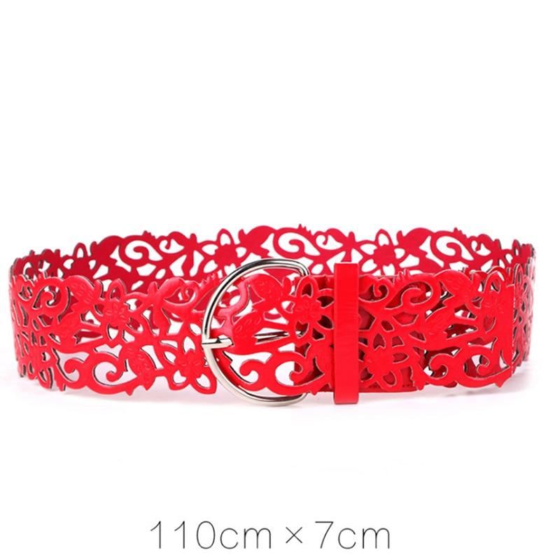 Hollow Retro Ladies Belt Wide Women's Cummerbund Female Cutout Flower Fashion Belt Strap Decoration High Quality Belt