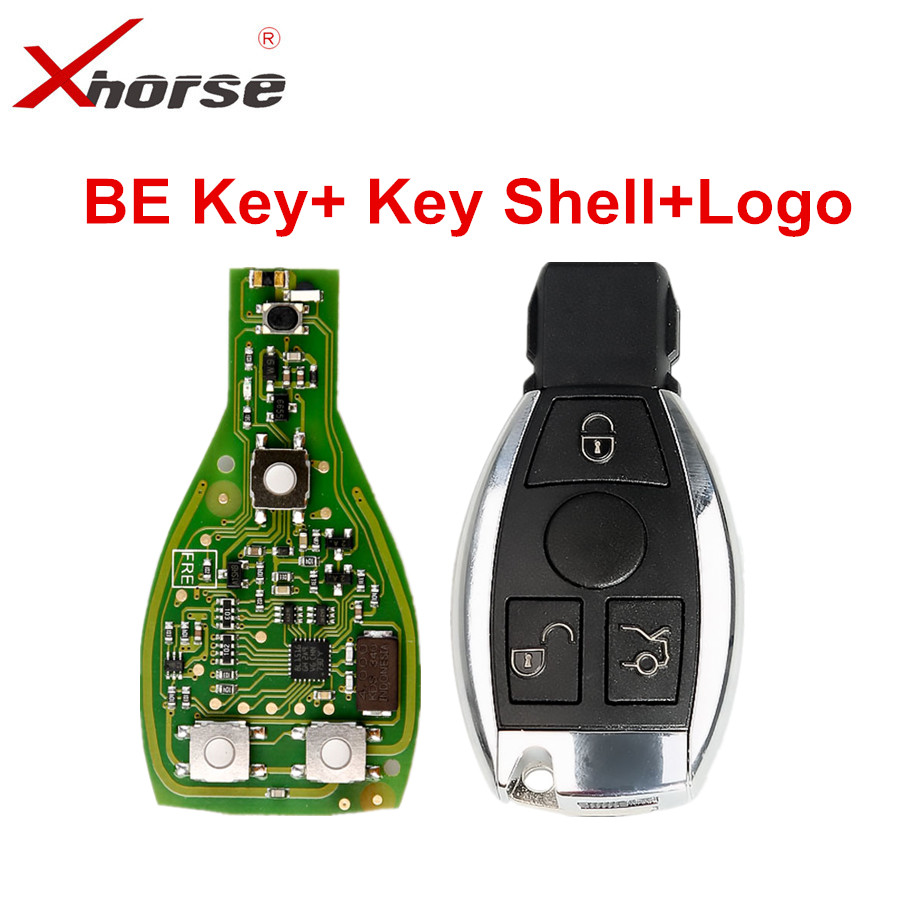 Xhorse VVDI BE Key Pro Improved Version V1.5 With Smart Key Shell With Logo 3 Button For Benz Exchange Token For VVDI MB BGA