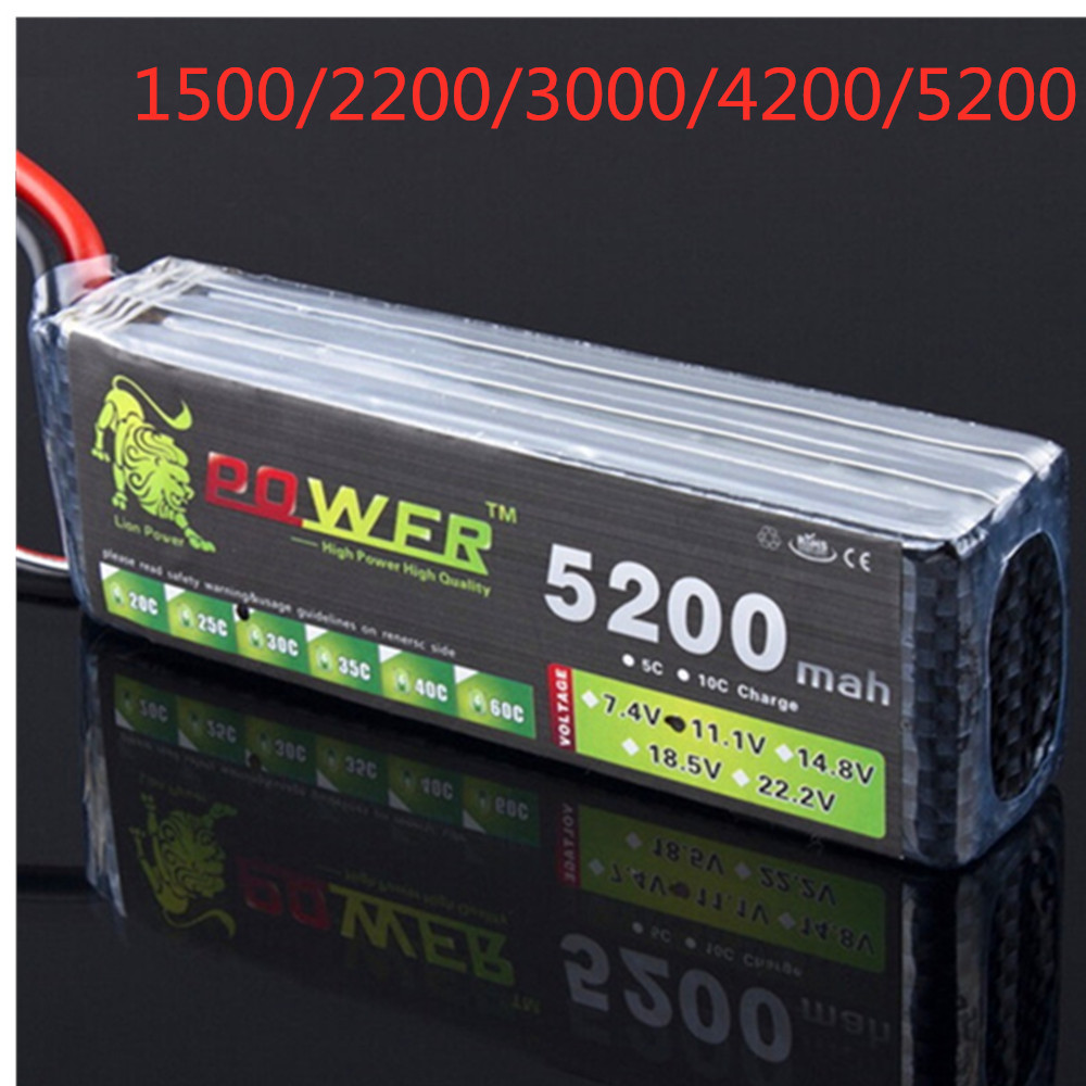 LION POWER Lipo 3s 1500mAh 2200mah 2800mah 3300mah 4200mah 5200mah 11.1v Lipo Battery For RC Helicopter Car Boat 3s Battery