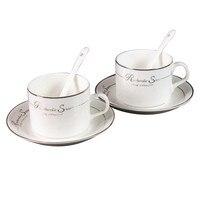Белая керамическая кофейная простая чашка и блюдце, наборы, традиционные китайские чайные чашки, таза, кафе, Portatil, бытовой фарфор OO50CS