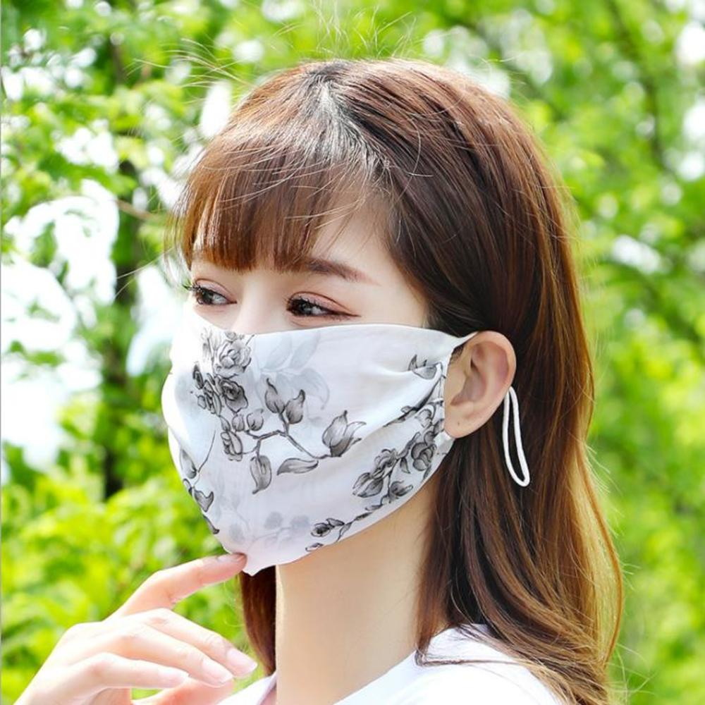 Hot New  1 PCS Female Sunscreen Mask UV Protection Breathable Thin MASK Chiffon Out Door Fashion Riding Masks For Driving Scarfs