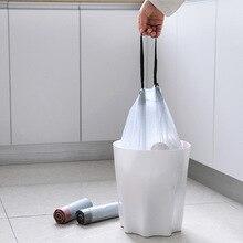 Drawstring Trash Bags Thicken Bin Bag Household Kitchen Waste Bag Plastic Leak Proof Auto Close Stringing Garbage Bags Dispenser bag holder papelera oficina basurero dust kosz na smieci de garbage cubo basura reciclaje dustbin recycle poubelle bin trash can